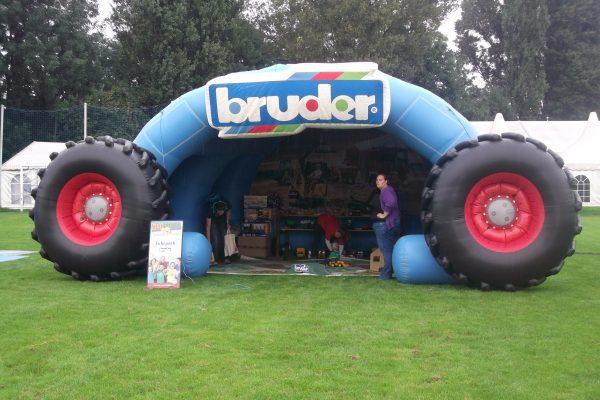 Bruder Zelt, Aufblasbares Traktorzelt, Aufblasbare Abgrenzung, Sonnenschutz, Regenschutz, Hingucker, Traktorzelt,