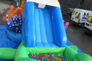 Bällebad, Rutsche, aufblasbar, Sommer, Kinder