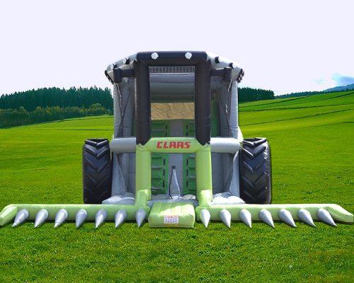 Aufblasbarer Mähdrescher Claas, Mähdrescher, Claas, Hüpfburg, Traktor, Landwirtschaft, Landmaschine,