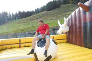 Fußball Rodeo, aufblasbar, Sommer, Gleichgewicht, Geschicklichkeit, Wettkampf, Outdoor