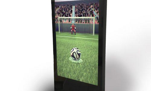 Kinect Soccer Technologie, virtuelles Fußballspiel, Elfmeterschießen Computer, digital