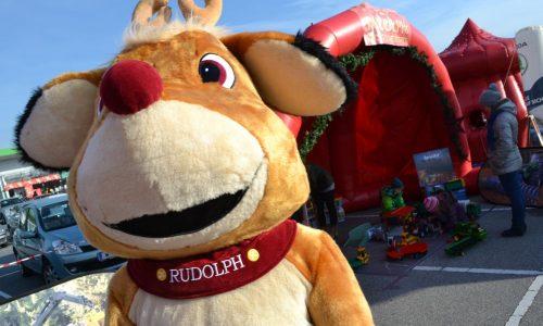 Kostüm Rudolph, Rudolph mit der roten Nase, Geschenke verteilen, Walking Act, Maskottchen, Weihnachten, Winterzeit