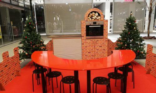Einkaufszentrum, Weihnachten, Kekse backen, Keksstation