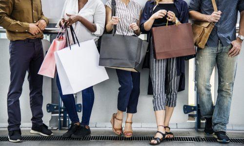Einkaufstaschen, Einkaufszentren