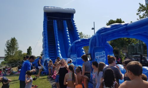 Rock the Slide, aufblasbare Riesenwasserrutsche