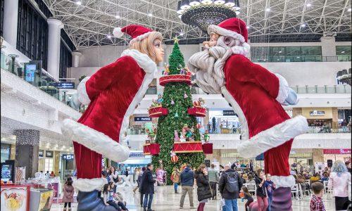 Weihnachtsmann und frau  klein