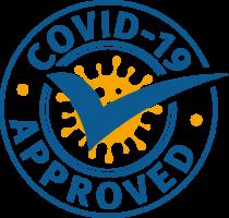Corona approved siegel dunkelblau x