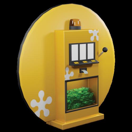 """Einarmiger Bandit """"Einarmiger Held"""", Glücksspielautomat, Leuchtanzeige"""