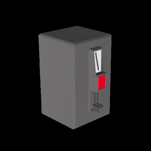 3D Illustration eines Münzeinwurfes