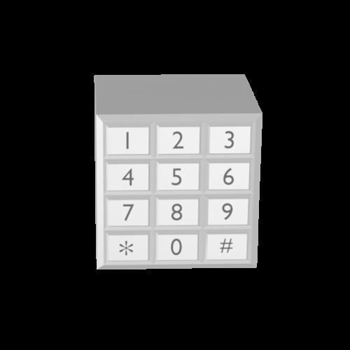 3D Illustration eines Ziffernblocks